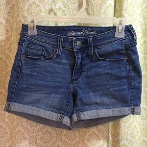Universal Thread mid rise jean shorts